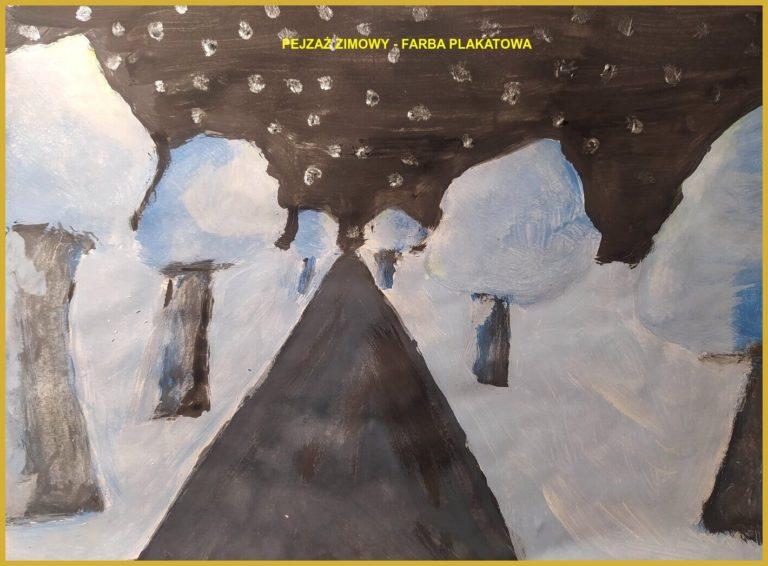 Maja Całka - Pejzaż zimowy