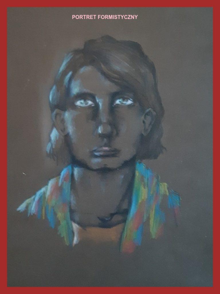 Aleksandra Florkiewicz 7a praca na podstawie portretów witkiewicza