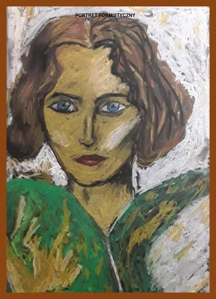 Karolina Bogdanowicz 7b praca na podstawie portretów witkiewicza